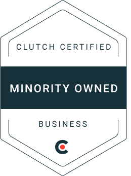 Clutch certified minority owned business badge
